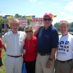 L to R: friends, Our 2011 Grand Marshal Donal Gallagher, Oliver Fallon
