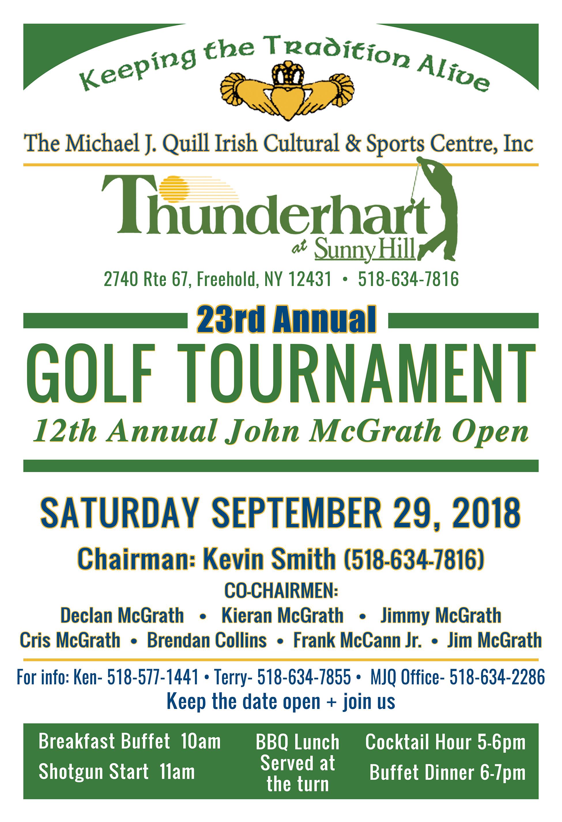 MJQuill Golf Tournament Sept 2018